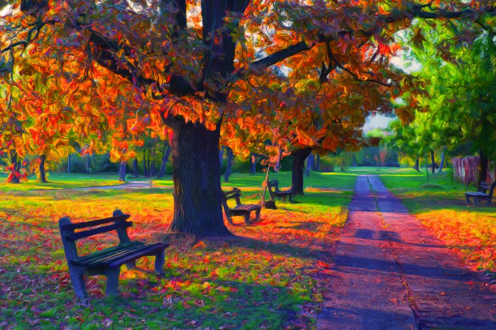 fine art reproduction park landscape painting